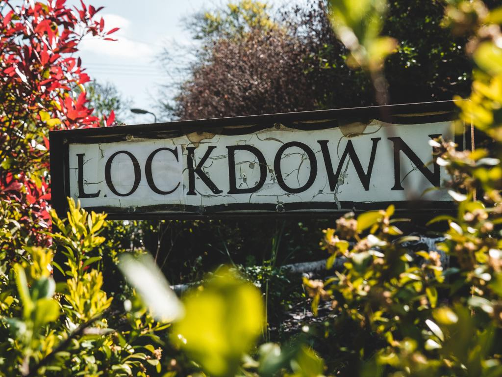 A picture of a street sign saying lockdown, to show we are leaving lockdown in the UK